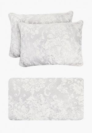Комплект с покрывалом Sofi De Marko. Цвет: серебряный