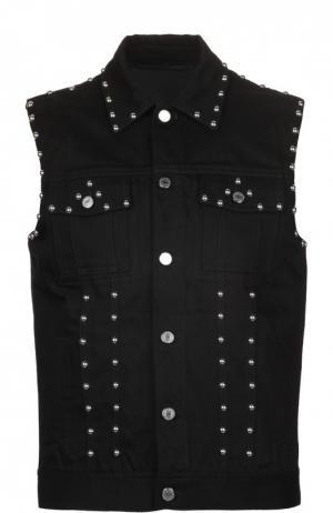 Жилет джинсовый Givenchy. Цвет: черный