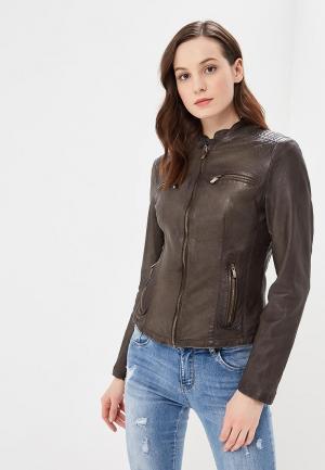 Куртка кожаная Arma Catilyn. Цвет: хаки