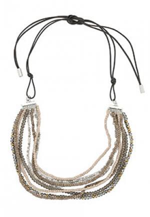 Ожерелье PESERICO. Цвет: бежевый