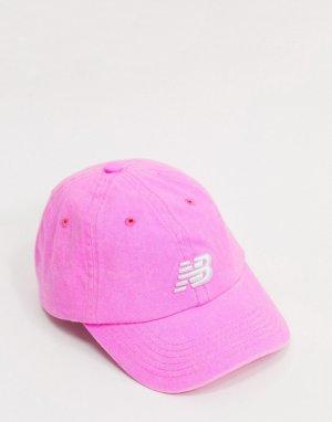 Розовая кепка с логотипом -Розовый New Balance