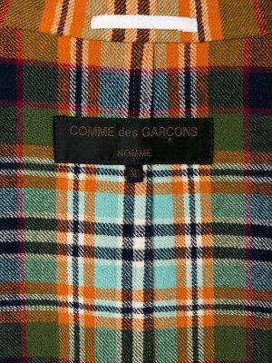 Костюм в клетку с потертостями Comme Des Garçons Pre-Owned. Цвет: желтый