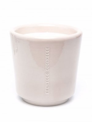 Logo-engraved ceramic candle Brunello Cucinelli. Цвет: серый