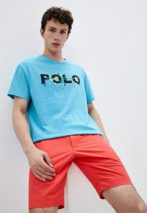 Футболка Polo Ralph Lauren. Цвет: голубой