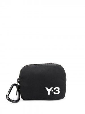 Кошелек с карабином Y-3. Цвет: черный