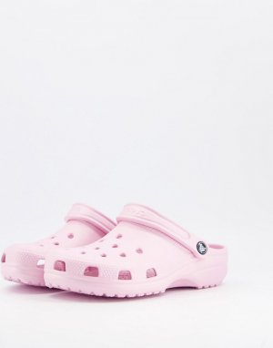 Нежно-розовые классические кроксы -Розовый цвет Crocs