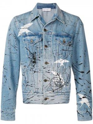 Джинсовая куртка Faith Connexion. Цвет: синий