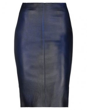 Юбка до колена JITROIS. Цвет: темно-синий