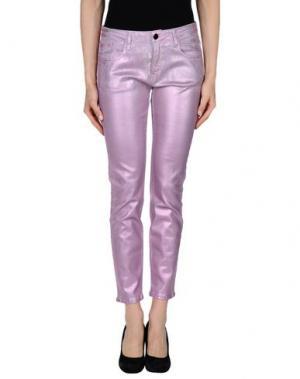 Джинсовые брюки 75 FAUBOURG. Цвет: розовый