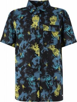 Рубашка с коротким рукавом для мальчиков , размер 158 Termit. Цвет: синий