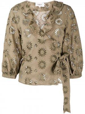 Блузка Bardo с вышивкой Ba&Sh. Цвет: зеленый