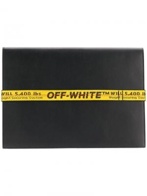 Складная визитница Off-White. Цвет: черный