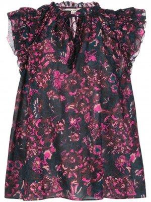 Блузка Rina с цветочным принтом Ulla Johnson. Цвет: розовый