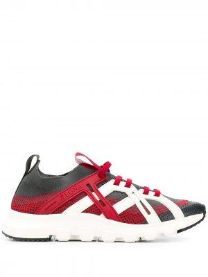 Кроссовки Sock 2.0 Z Zegna. Цвет: серый