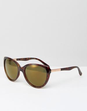 Солнцезащитные очки в черепаховой оправе Belle Ted Baker. Цвет: коричневый