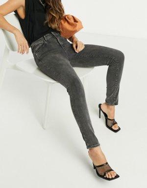 Черные джинсы скинни с завышенной талией Levis 721-Черный Levi's