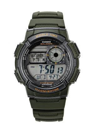 Часы Casio Collection AE-1000W-3A. Цвет: хаки