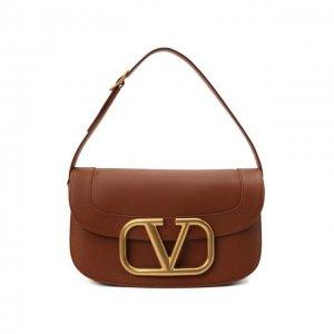 Сумка SuperVee large Valentino. Цвет: коричневый
