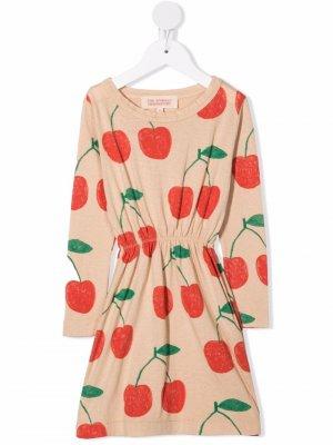 Cherry-print knit dress The Animals Observatory. Цвет: розовый