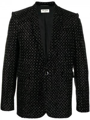 Декорированный пиджак Saint Laurent. Цвет: черный