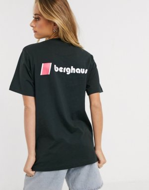 Черная футболка с логотипом на груди и спине Heritage-Черный Berghaus