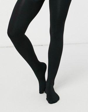Колготки на флисовой подкладке -Черный цвет New Look