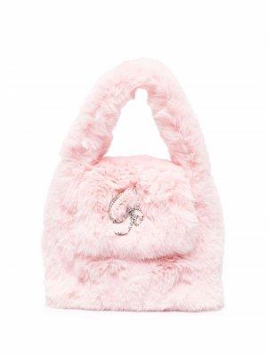 Декорированная сумка-тоут Blumarine. Цвет: розовый