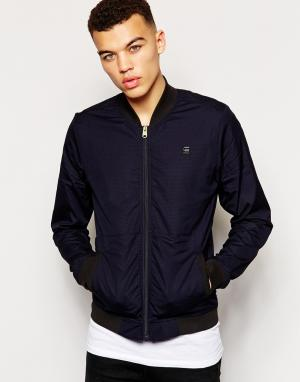 Куртка-пилот из ткани рип-стоп G Star Correct Bergmann G-Star. Цвет: светлый кобальтово-синий