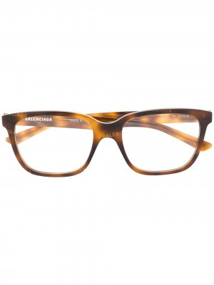 Square glasses Balenciaga Eyewear. Цвет: коричневый
