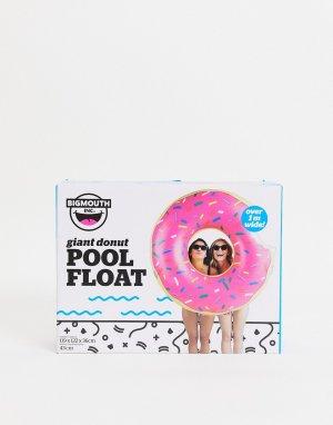 Надувной круг в виде клубничного пончика -Розовый цвет Big Mouth