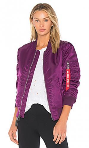 Куртка ma-1 ALPHA INDUSTRIES. Цвет: фиолетовый
