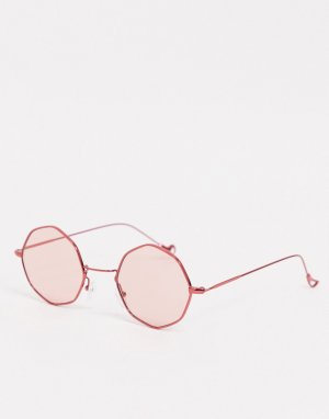 Розовые восьмиугольные солнцезащитные очки -Черный AJ Morgan