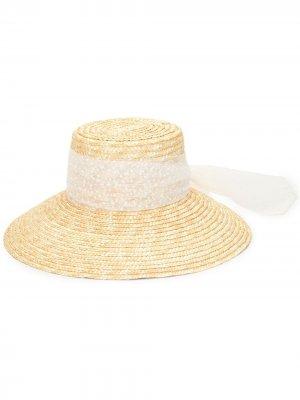 Соломенная шляпа Mirabel Eugenia Kim. Цвет: коричневый