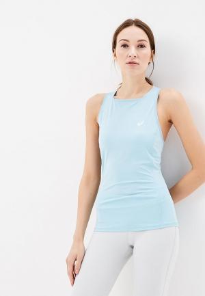 Майка спортивная ASICS TANK. Цвет: голубой