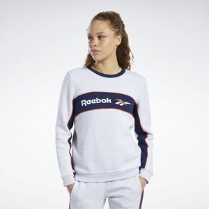 Свитшот Classics Linear Fleece Crew Reebok. Цвет: light grey heather
