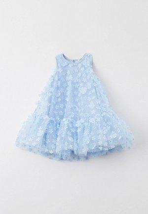 Платье Sela. Цвет: голубой