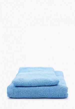 Комплект полотенец Эго 70х135 см, 50х85 см. Цвет: голубой