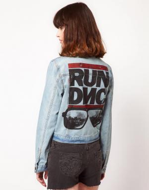 Джинсовая куртка Run DMC Amplified. Цвет: синий