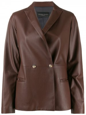 Двубортный пиджак Fabiana Filippi. Цвет: коричневый
