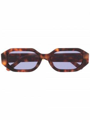 Солнцезащитные очки Irene The Attico. Цвет: коричневый