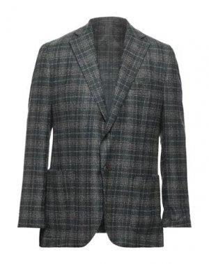 Пиджак LUIGI BIANCHI Mantova. Цвет: темно-зеленый