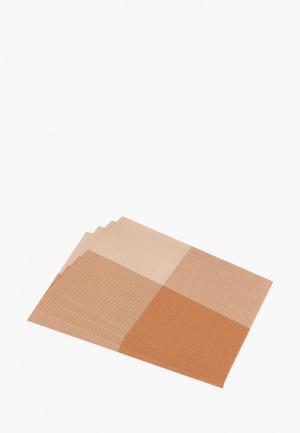 Комплект подставок под горячее El Casa. Цвет: коричневый