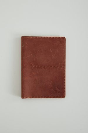 Обложка Черешня для паспорта и карт Друид коньяк. Цвет: коньячный
