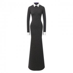 Шерстяное платье Ralph Lauren. Цвет: серый