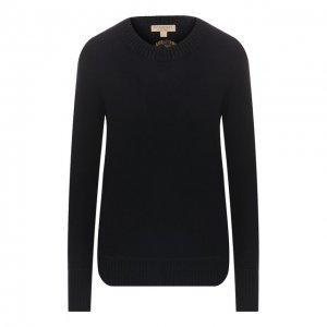 Кашемировый пуловер Burberry. Цвет: синий
