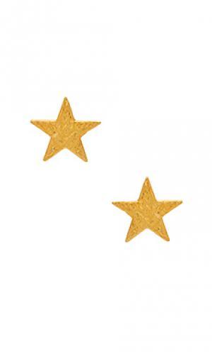 С шипами star gorjana. Цвет: металлический золотой