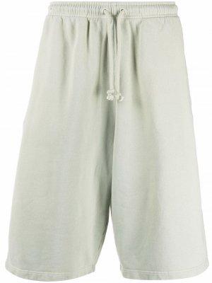 Спортивные шорты оверсайз Acne Studios. Цвет: зеленый