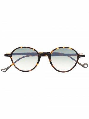 Солнцезащитные очки Springs в круглой оправе Eyepetizer. Цвет: коричневый