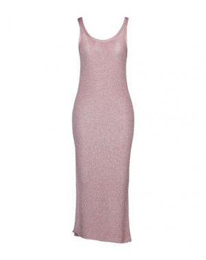 Длинное платье LANEUS. Цвет: розовый