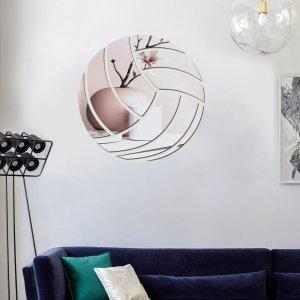9шт Наклейка на стену с зеркальной поверхностью в форме волейбола SHEIN. Цвет: серебряные